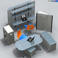 3d office furniture ofc1 model