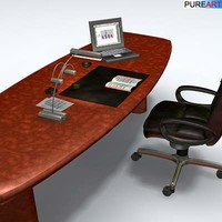 3dsmax office furniture desk chair