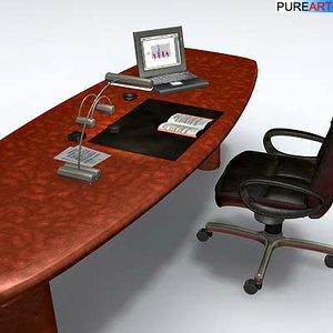 3dsmax office furniture desk chair