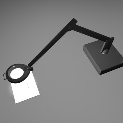 3d model circline lamp