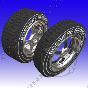 3d model wheels tire