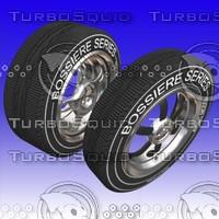 3d tire wheels rim model
