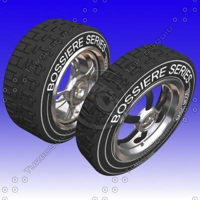 wheels tire 3d max