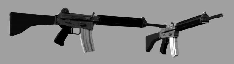 armalite ar-18 3d model