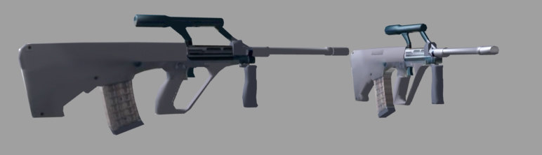 3d model of steyr aug assault rifle