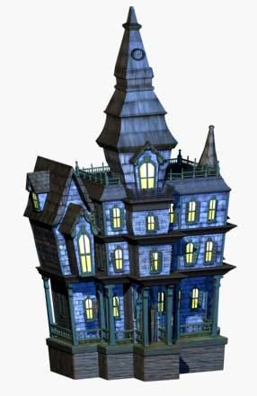 3d model manor haunted house