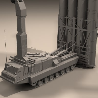 3d model vehicle s-300 v