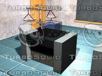 schematic superficial tension 3d model