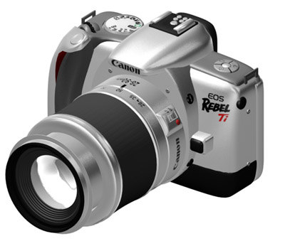 canon eos ti 3d model