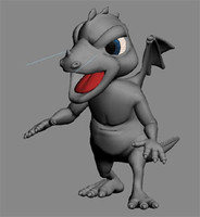 dragon character 3d model