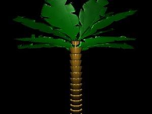 3ds palm tree