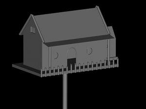 3d bird house