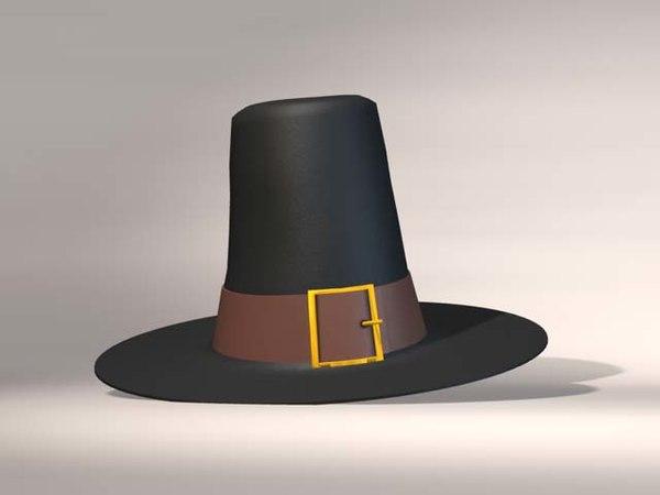 pilgrim hat 3d model