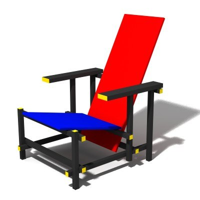 free max model red-blue chair