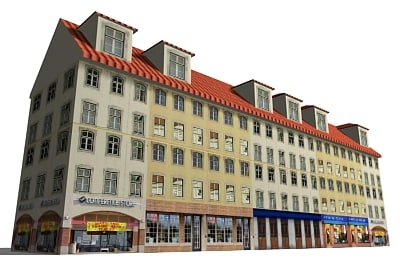 3d street building model