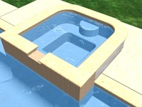 grecian swimming pool 3d max