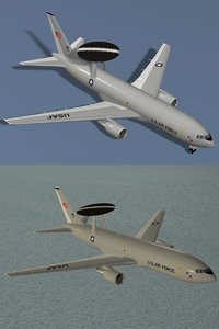 e-767 awacs usaf 767 3d max