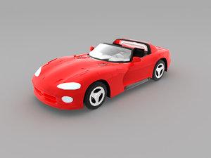 lightwave dodge viper 3d model