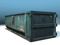 dumpster debris container 3d model