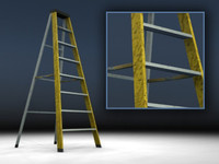 ladder construction sites 3d model
