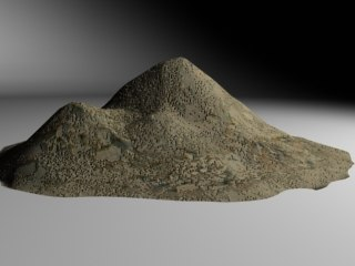 3d model pile dirt