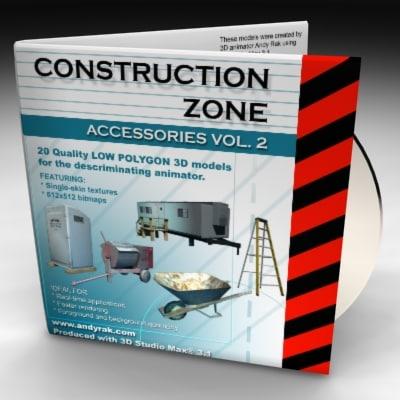 3d 2 construction zone model
