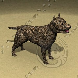 3ds max pitbull dogs pit
