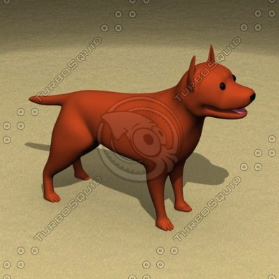 3ds pitbull dogs pit