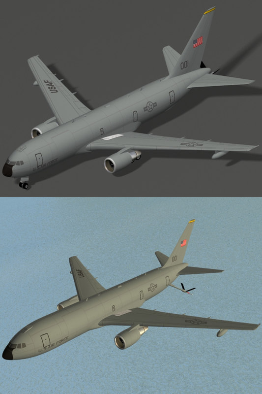 kc-767 transport usaf 767 3d max