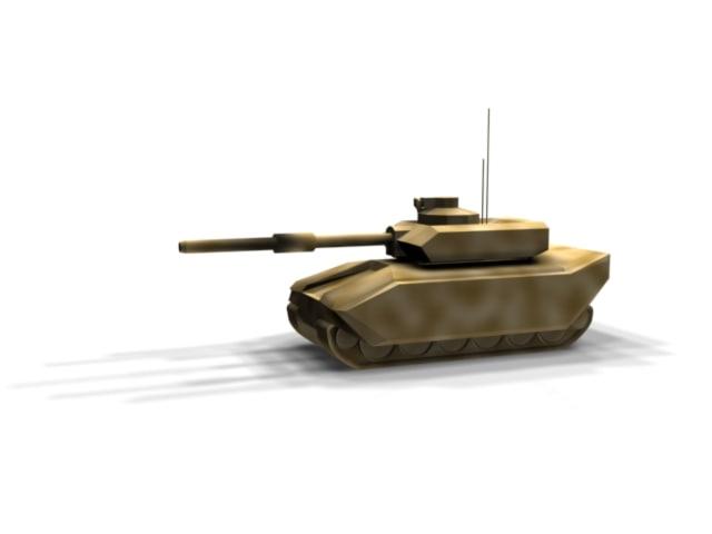 challenger tank 3d model