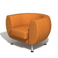 3d armchair leelo