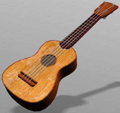 hawaii uke 3d model