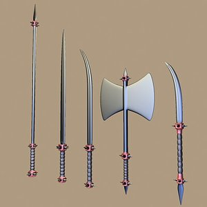 3ds max fantasy weapons spear
