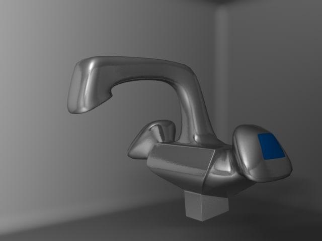 kitchen taps 3d model