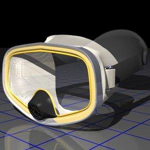 3d dive mask