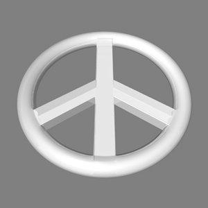 3dsmax peace symbol