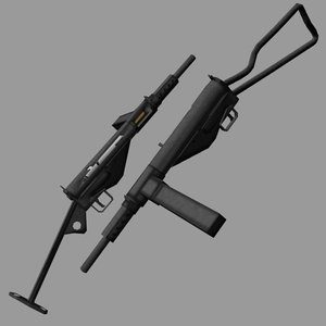 sten submachine gun 3d lwo