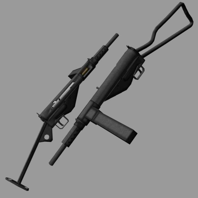 sten submachine gun 3d lwo