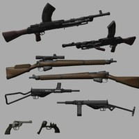 enfield machine gun 3d model
