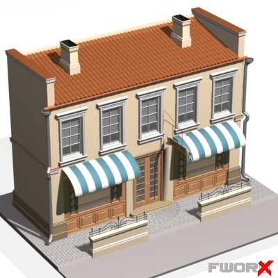 3d model house shop