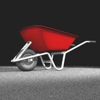 free wheel barrow 3d model