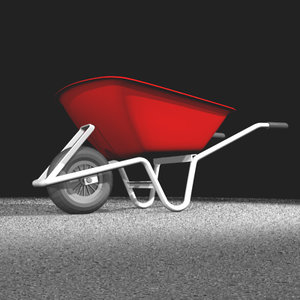 free wheel barrow 3d model