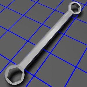 3d box wrench tilt model