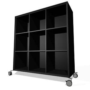 3d bookcase fantoni model
