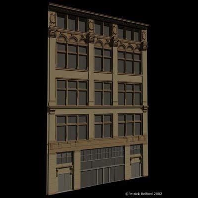 architectural facade 3d model
