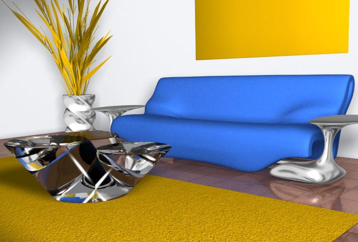 3d model livingroom room