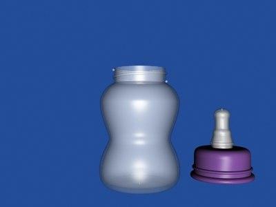 3d baby bottle model