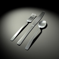 eating utensils 3d model