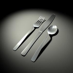 eating utensils 3d model