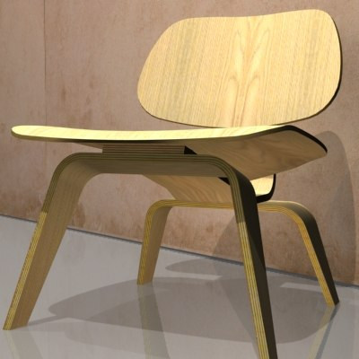 eames ply chair 3d model
